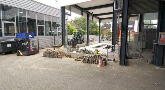 Im Bau: Neue Werkstatt Für Nutzfahrzeuge, Prüf- Und Einstellplatz Für Neue Assistenzysteme Und E-Tankstelle